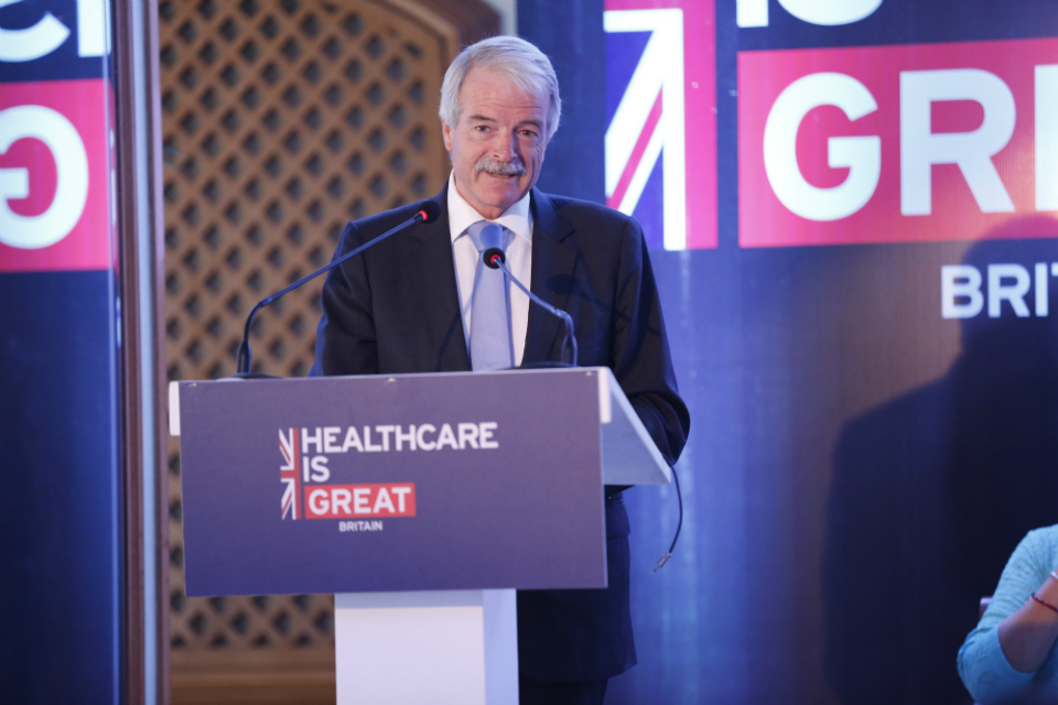 Sir Malcolm Grant speaking during Smart Healthcare mission