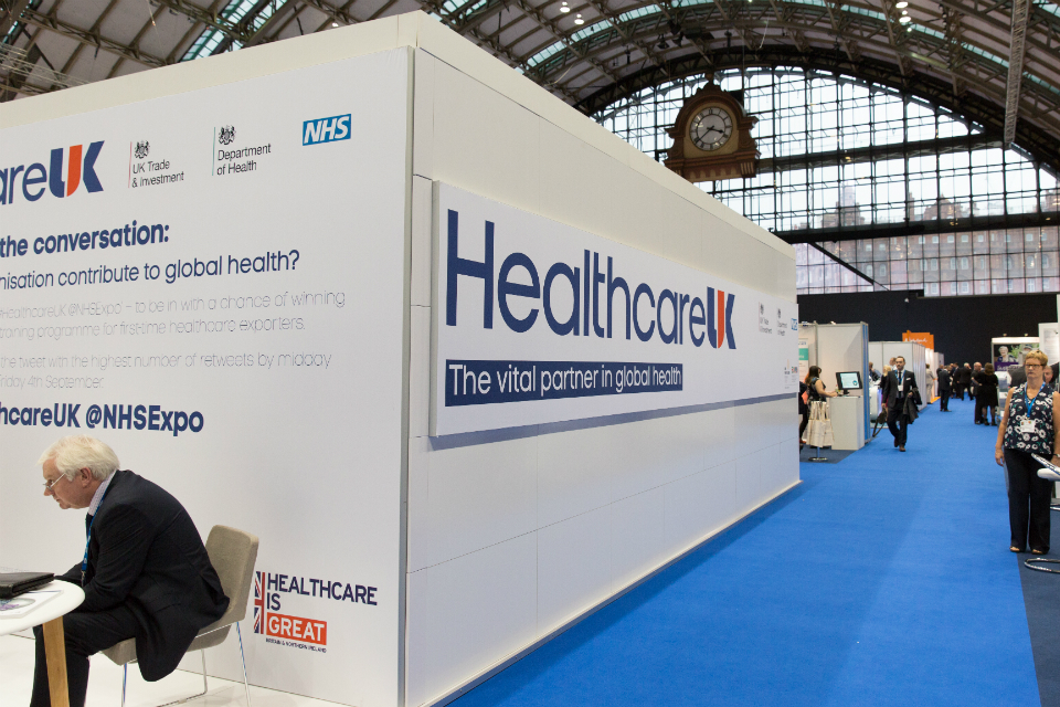 View of Healthcare UK's stand at late year's Expo